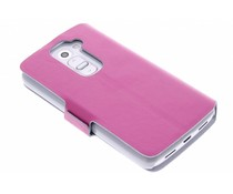 Fuchsia luxe booktype hoes LG G2 Mini