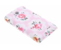 Roze bloemen design hardcase hoesje LG L70 / L65