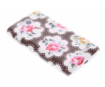 Bruin bloemen design hardcase hoesje LG L90
