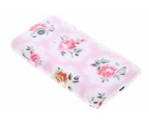 Roze bloemen design hardcase hoesje LG L90