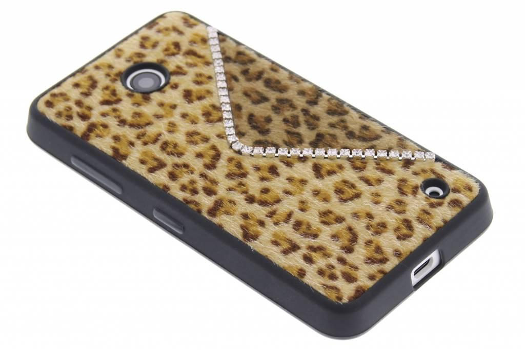 Luxe luipaard design TPU siliconen hoesje voor de Nokia Lumia 630-635