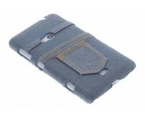 Denim jeans hoesje Nokia Lumia 625