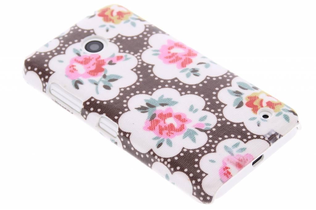 Bruin bloemen design hardcase hoesje voor de Nokia Lumia 630-635