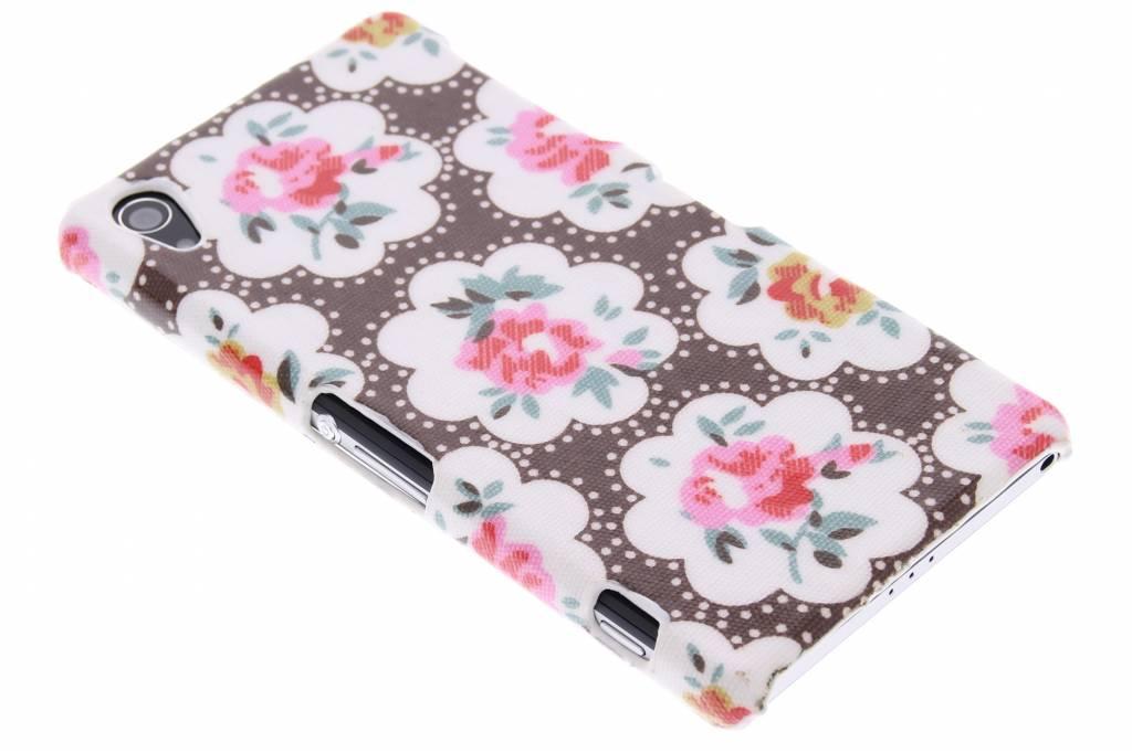 Bruin bloemen design hardcase hoesje voor de Sony Xperia Z2