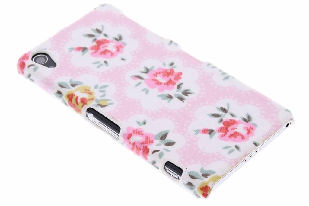 Roze bloemen design hardcase hoesje voor de Sony Xperia Z2