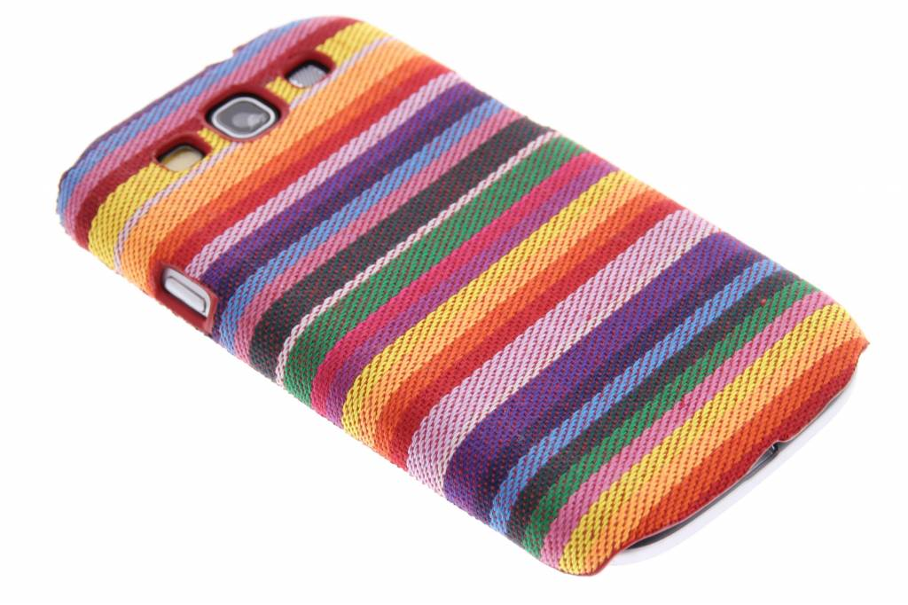 Katoenen hardcase hoesje voor de Samsung Galaxy S3 / Neo