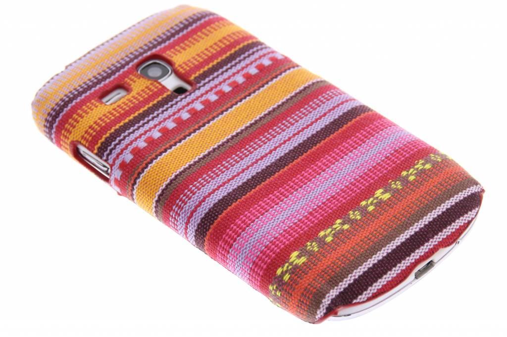 Katoenen hardcase hoesje voor de Samsung Galaxy S3 Mini