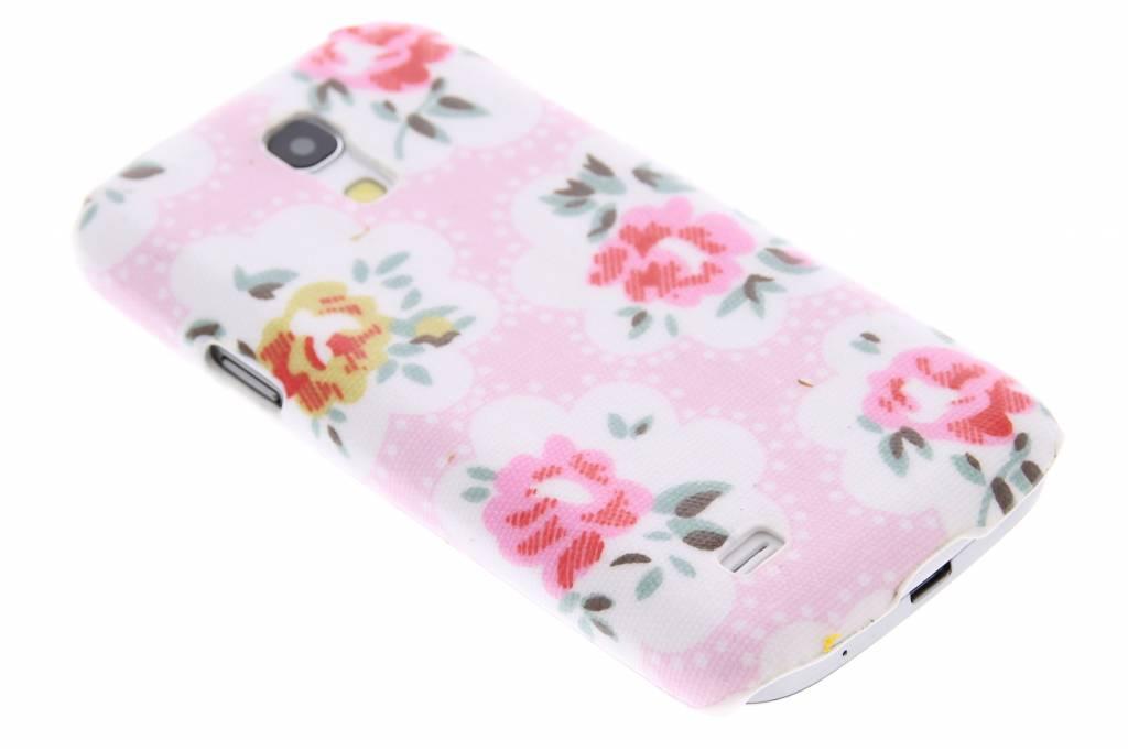 Roze bloemen design hardcase hoesje voor de Samsung Galaxy S4 Mini