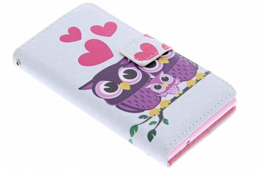 Uiltjes design TPU booktype hoes voor de Huawei Ascend P6 / P6s