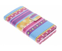 Design TPU booktype hoes Huawei Ascend P6 / P6s