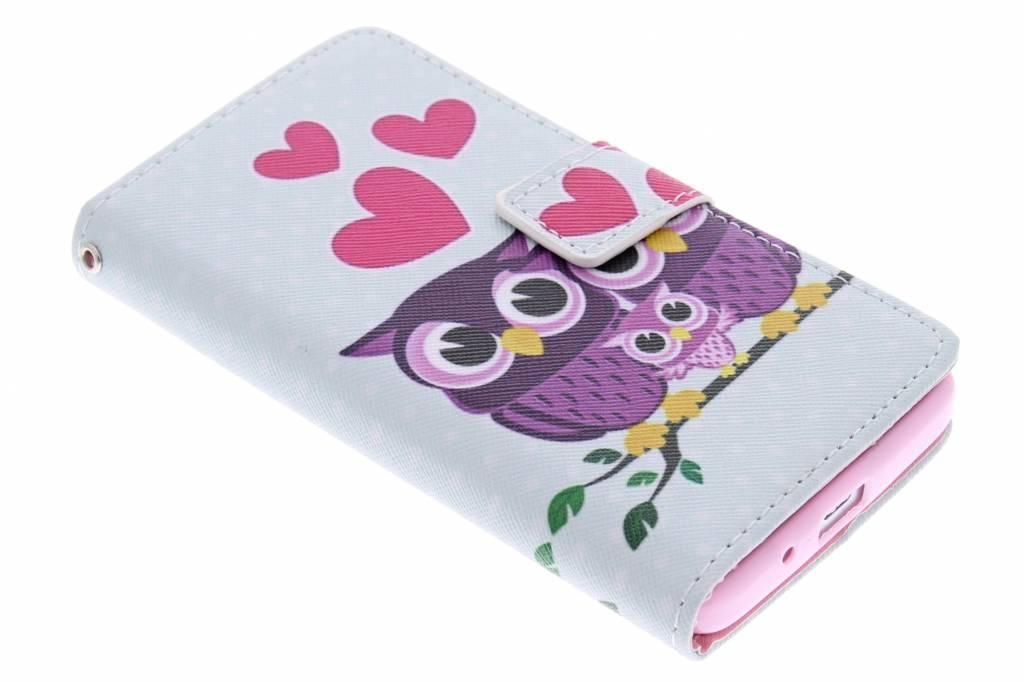 Uiltjes design TPU booktype hoes voor de Huawei Ascend Y530
