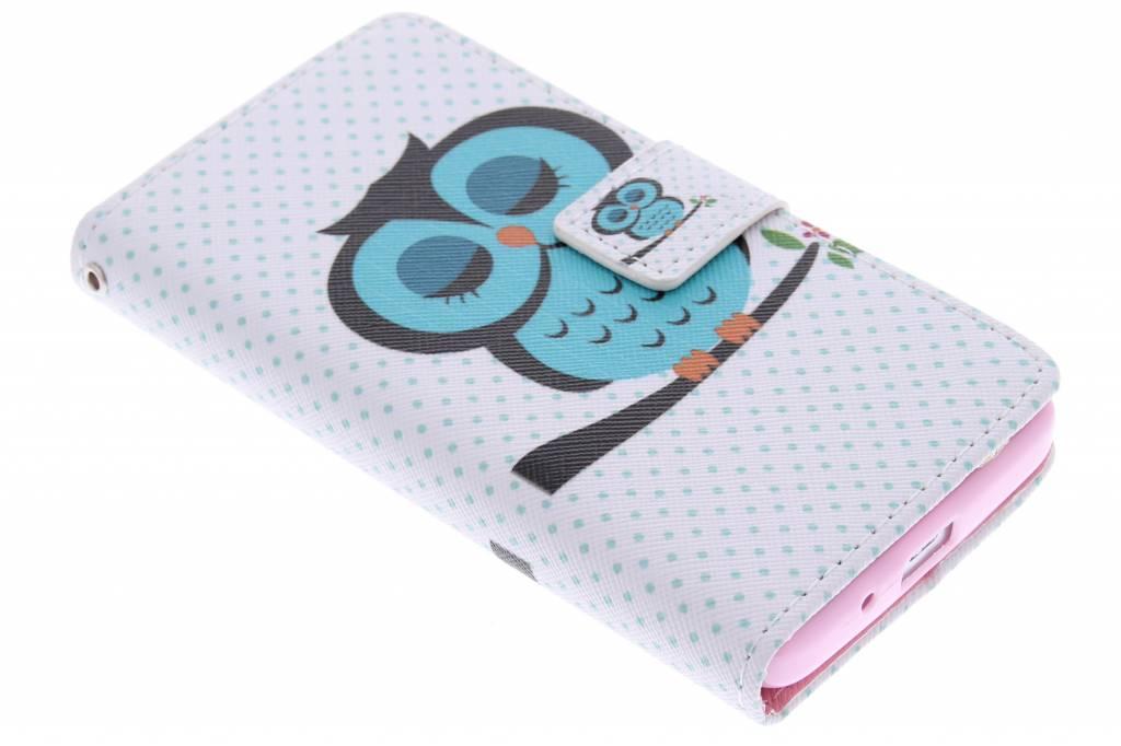 Uil design TPU booktype hoes voor de Huawei Ascend Y530