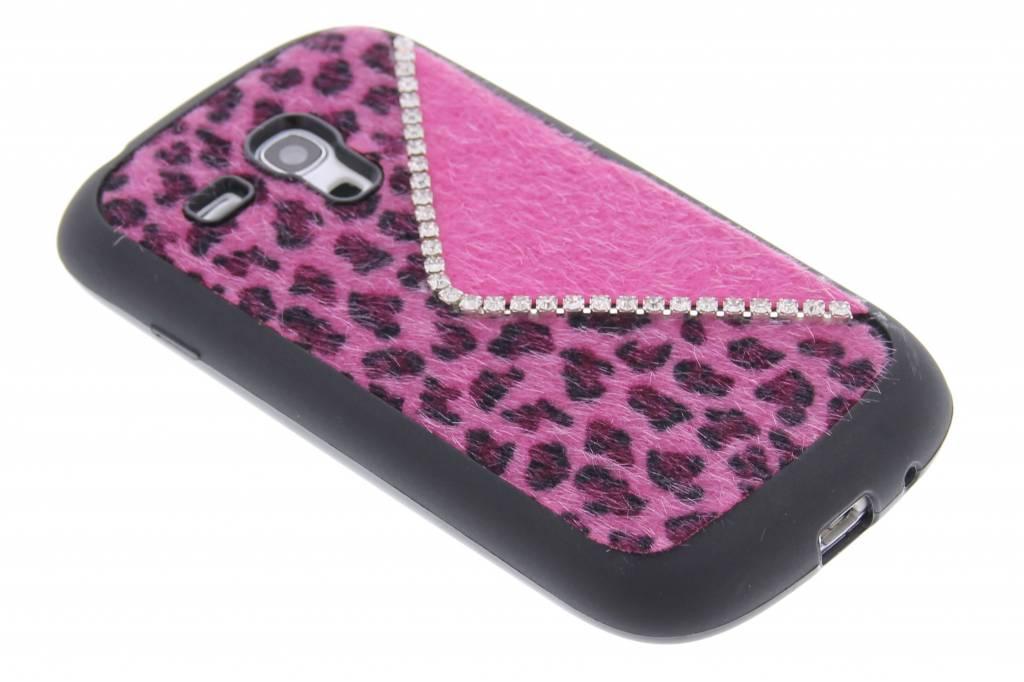Luxe luipaard design TPU siliconen hoesje voor de Samsung Galaxy S3 mini