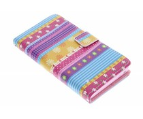Design TPU booktype hoes Sony Xperia Z
