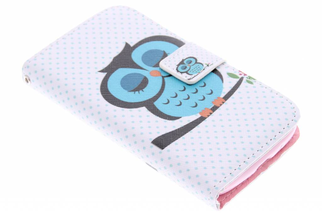 Uil design TPU booktype hoes voor de Samsung Galaxy Core