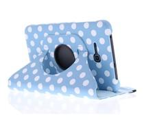 360° draaibare polka dot tablethoes Galaxy tab 3 Lite 7.0