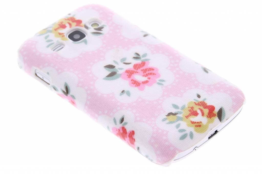 Roze bloemen design hardcase hoesje voor de Samsung Galaxy Ace 3