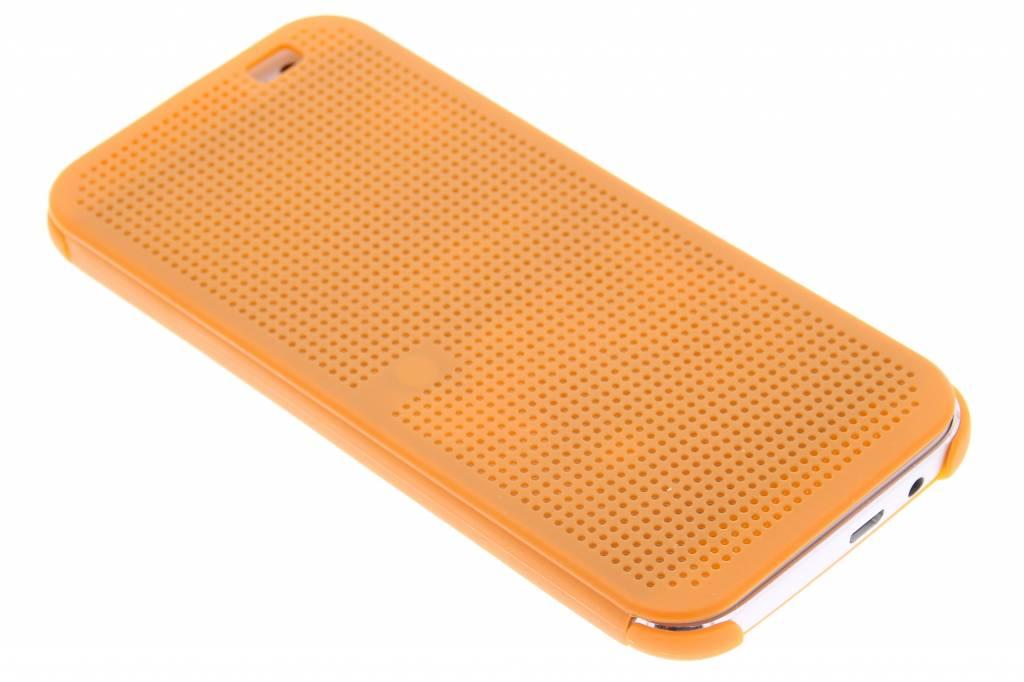 Oranje Dot-Cover hoes voor de HTC One M8 / M8s