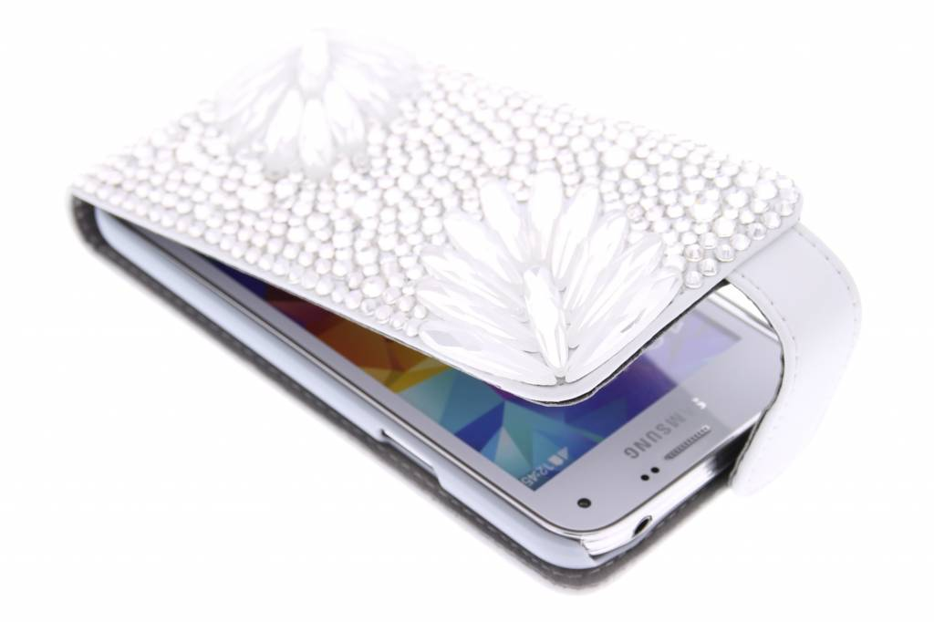 Glazen strass flipcase voor de Samsung Galaxy S5 Mini