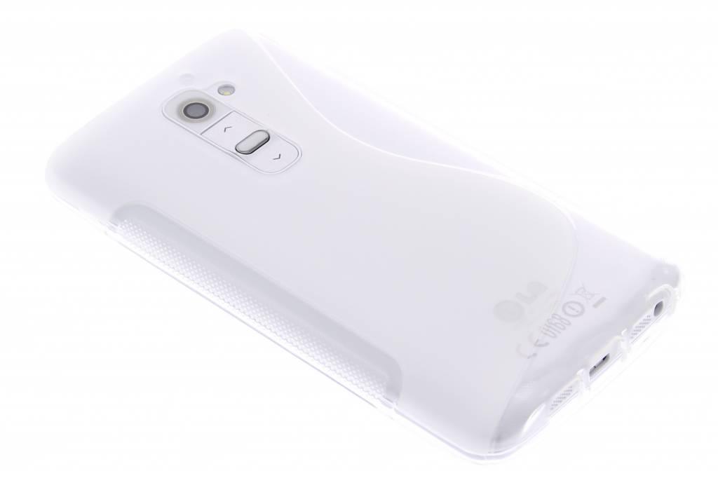 Transparant S-line TPU siliconen hoesje voor de LG G2