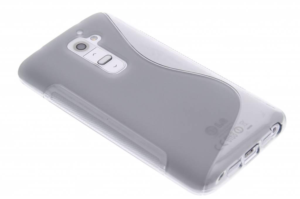 Grijs S-line TPU siliconen hoesje voor de LG G2