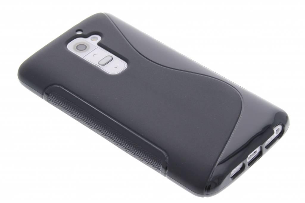 Zwart S-line TPU siliconen hoesje voor de LG G2