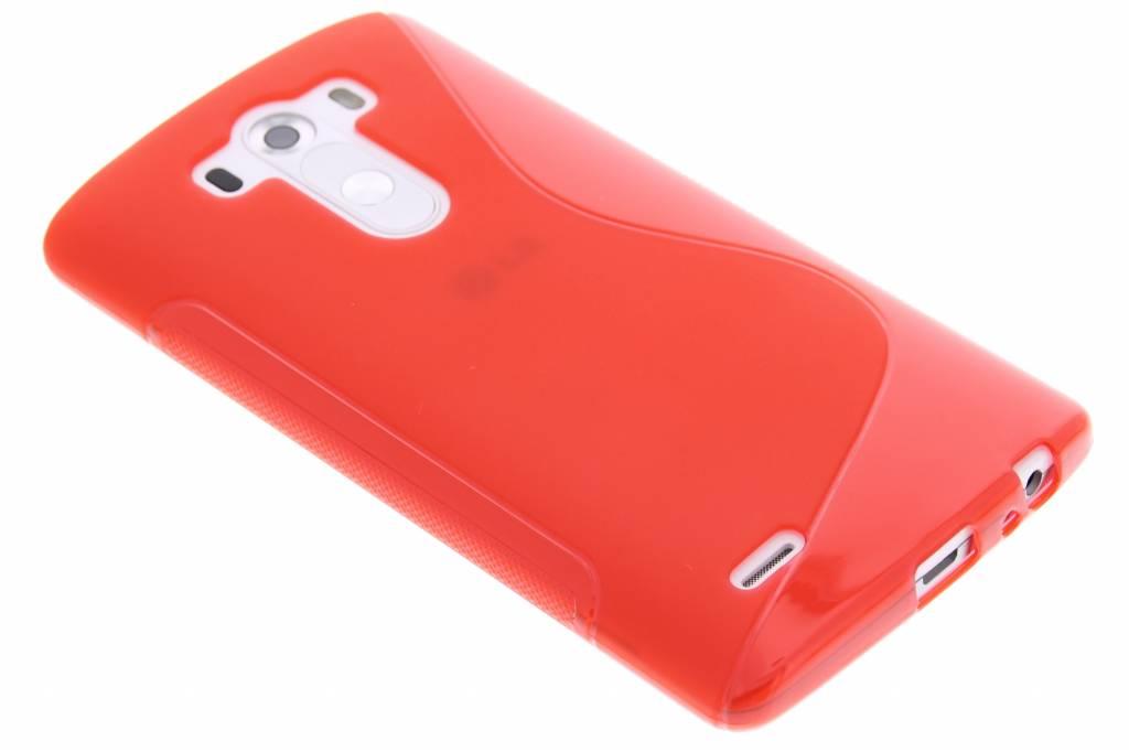 Rood S-line TPU hoesje voor de LG G3