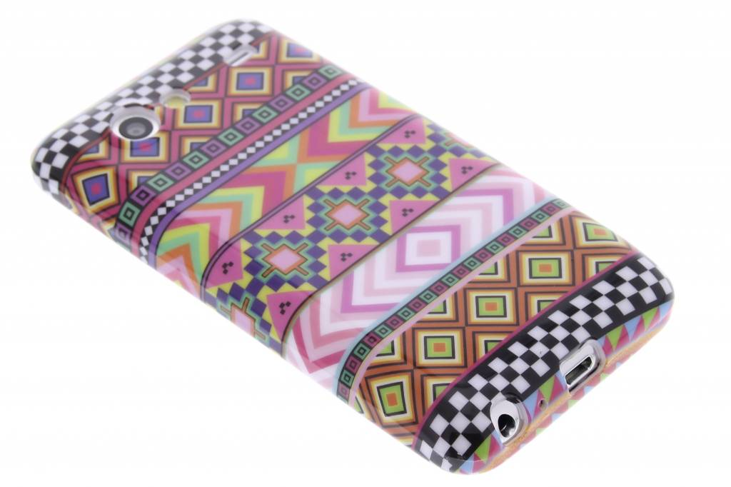 Aztec design TPU siliconen hoesje voor de Samsung Galaxy S Advance