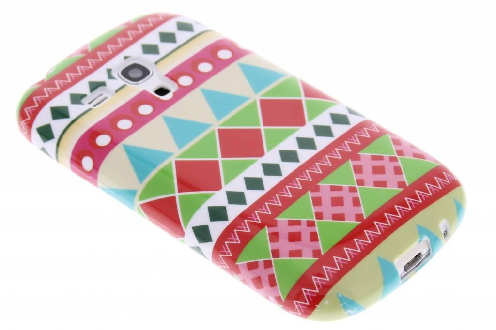 Cas Tpu Design Aztec Silicone Pour La Mini-samsung Galaxy S N2a7s