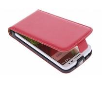 Rood luxe flipcase LG G2 Mini