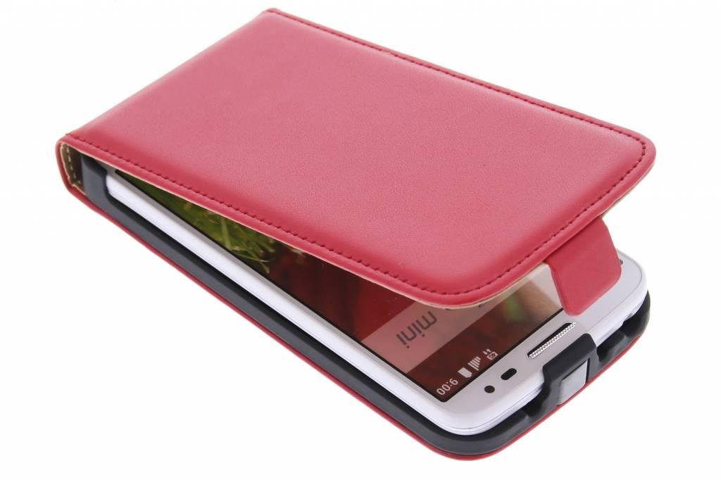 Rode luxe flipcase voor de LG G2 Mini