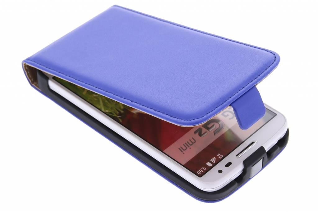 Blauwe luxe flipcase voor de LG G2 Mini