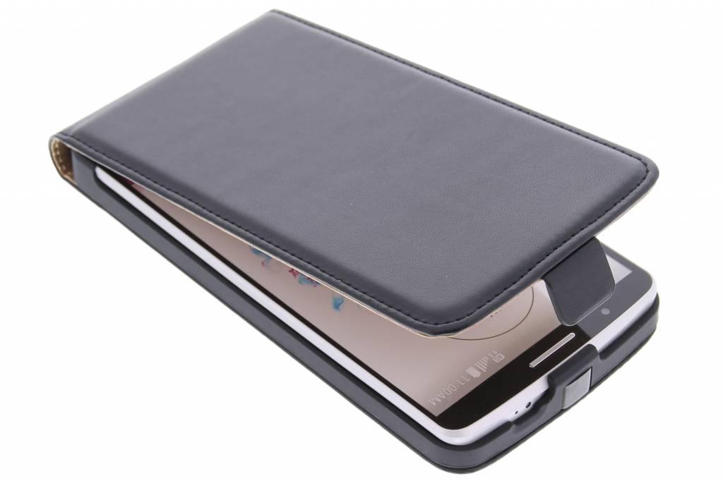 Zwarte luxe flipcase voor de LG G3