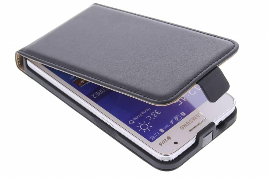 Zwarte luxe flipcase voor de Samsung Galaxy Core 2