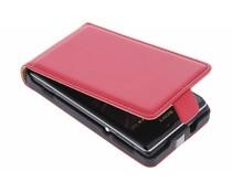 Rood luxe flipcase Sony Xperia E