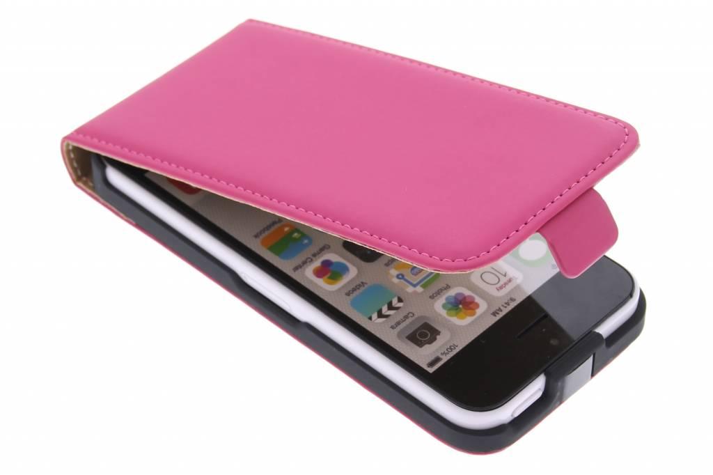 Mobiparts Premium flipcase voor de iPhone 5c - Pink