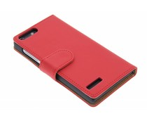 Rood effen booktype hoes Huawei Ascend G6 4G