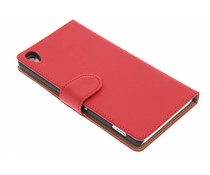 Rood effen booktype hoes Sony Xperia Z3