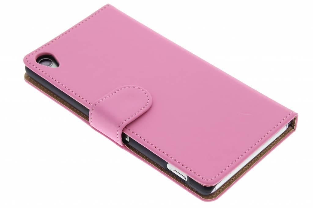 Roze effen booktype hoes voor de Sony Xperia Z3