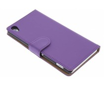 Paars effen booktype hoes Sony Xperia Z3