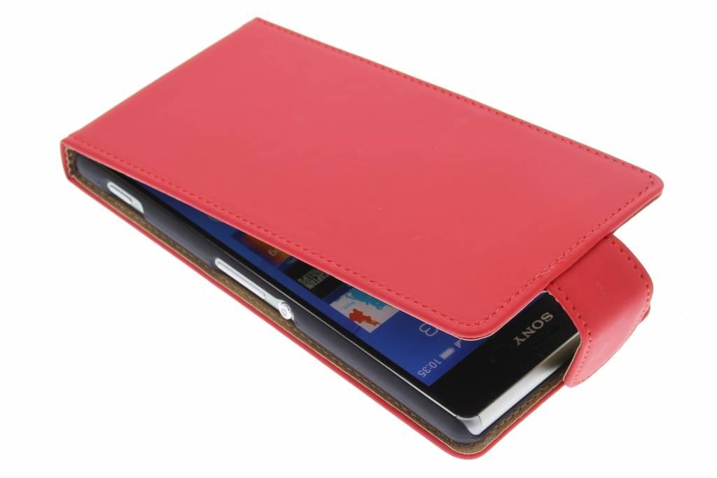 Rode classic flipcase voor de Sony Xperia Z3