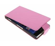 Roze classic flipcase Sony Xperia Z3
