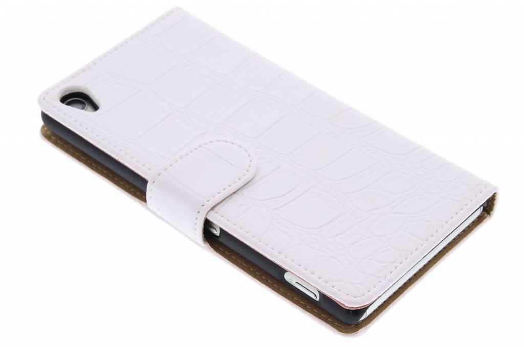 Witte krokodil booktype hoes voor de Sony Xperia Z3
