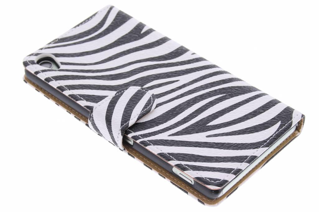 Zebra booktype hoes voor de Sony Xperia Z3