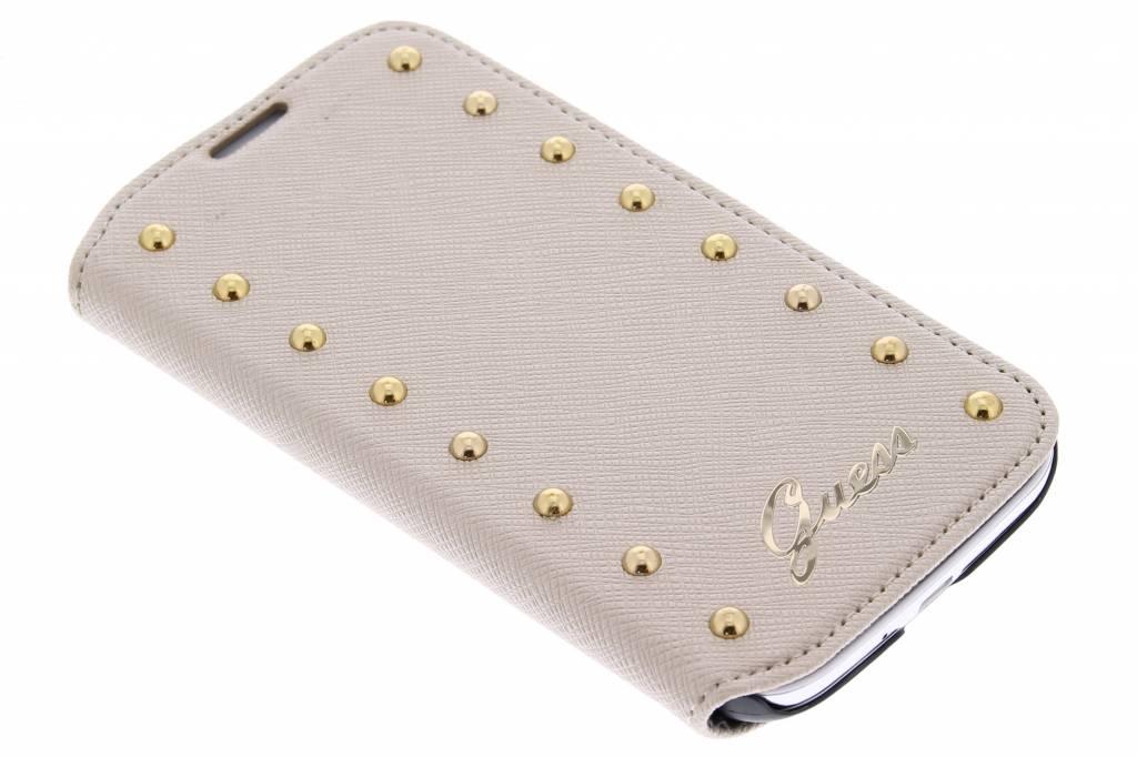 Guess Studded Folio Case voor de Samsung Galaxy S4 - goud
