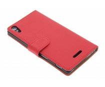 Rood effen booktype hoes Sony Xperia T3