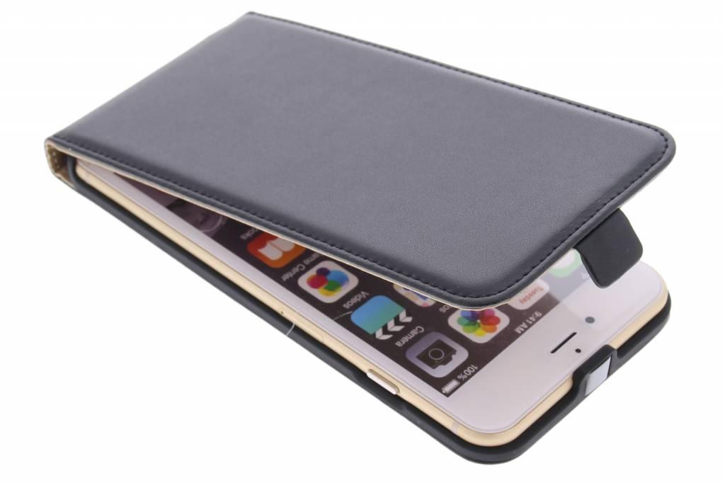 Zwarte luxe flipcase voor de iPhone 6(s) Plus