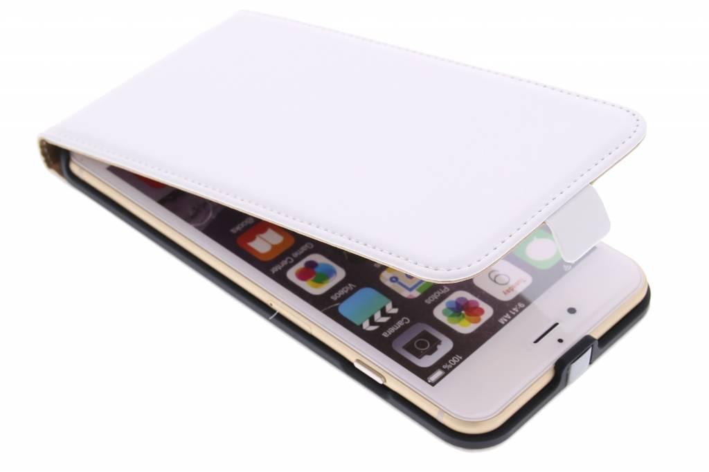 Witte luxe flipcase voor de iPhone 6(s) Plus
