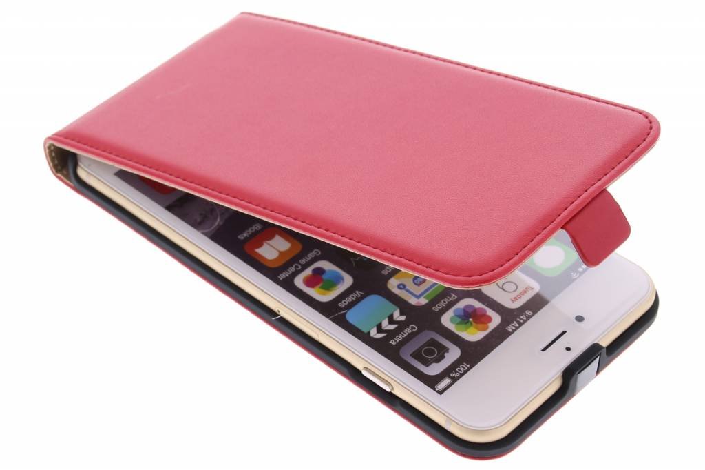 Rode luxe flipcase voor de iPhone 6(s) Plus
