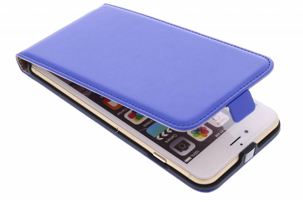 Blauwe luxe flipcase voor de iPhone 6(s) Plus